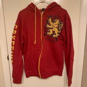 Harry Potter Gryffindor zip up hoodie